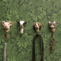 Kleiderhaken aus Holz - Hund