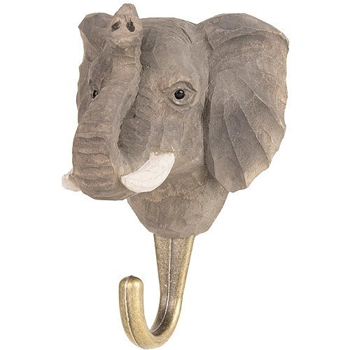 Kleiderhaken aus Holz - Elefant