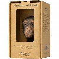 Kleiderhaken aus Holz - Schimpanse