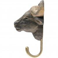 Kleiderhaken aus Holz - Afrikanischer Büffel