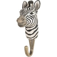 Kleiderhaken aus Holz - Zebra