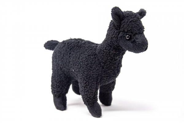 Kuscheltier - Alpaka schwarz - 20 cm