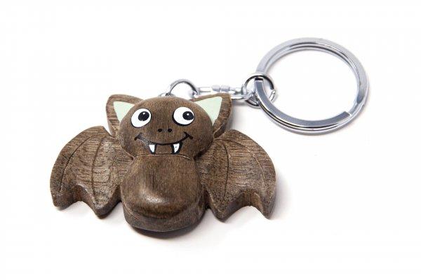 Schlüsselanhänger aus Holz - Fledermaus