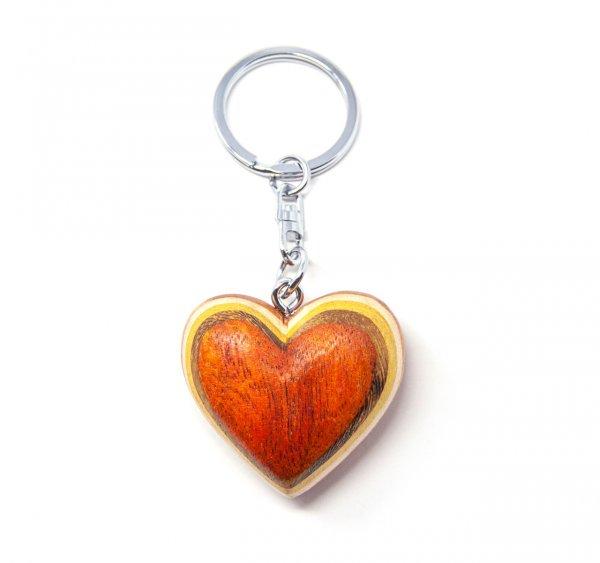 Schlüsselanhänger aus Holz - Herz