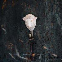 Kleiderhaken aus Holz - Schaf