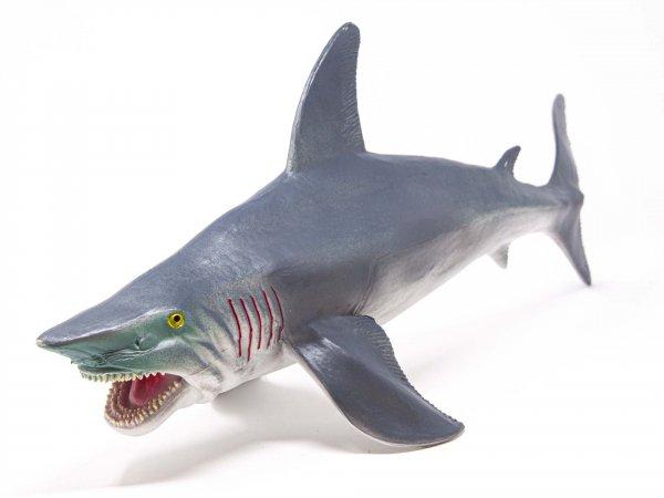 Tier-Spielfigur - Weisser Hai - 51 cm