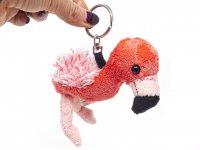 Plüsch Schlüsselanhänger - Flamingo