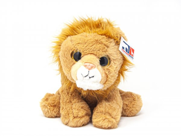 Kuscheltier - Löwe sitzend mit Glubschaugen - 25 cm