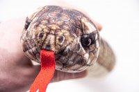 Kuscheltier - Schlange Klapperschlange mit Rassel - 145 cm lang